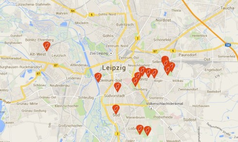 Hier wachsen überall Hagebutten in Leipzig. Copy by:  http://www.frucht-bar.org/#map